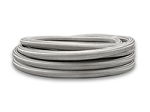 20ft Roll of Stainless Steel Braided Flex Hose with PTFE Liner; AN Size: -4.